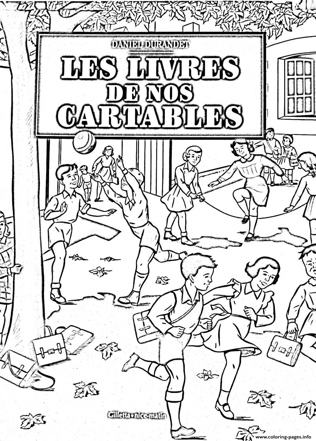 Adult Ecole Vintage coloring pages