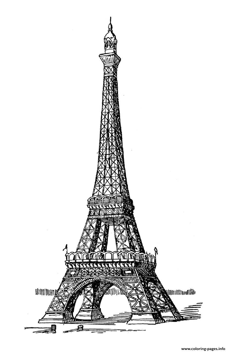 Adult Eiffel Tower Coloring Pages Printable