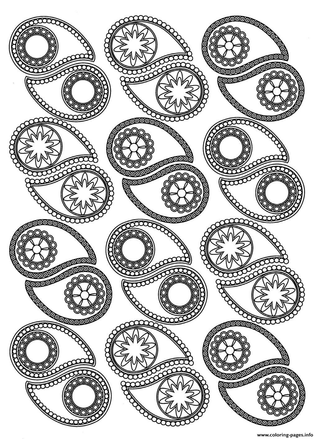 Adult Paisley Coloring Pages Printable