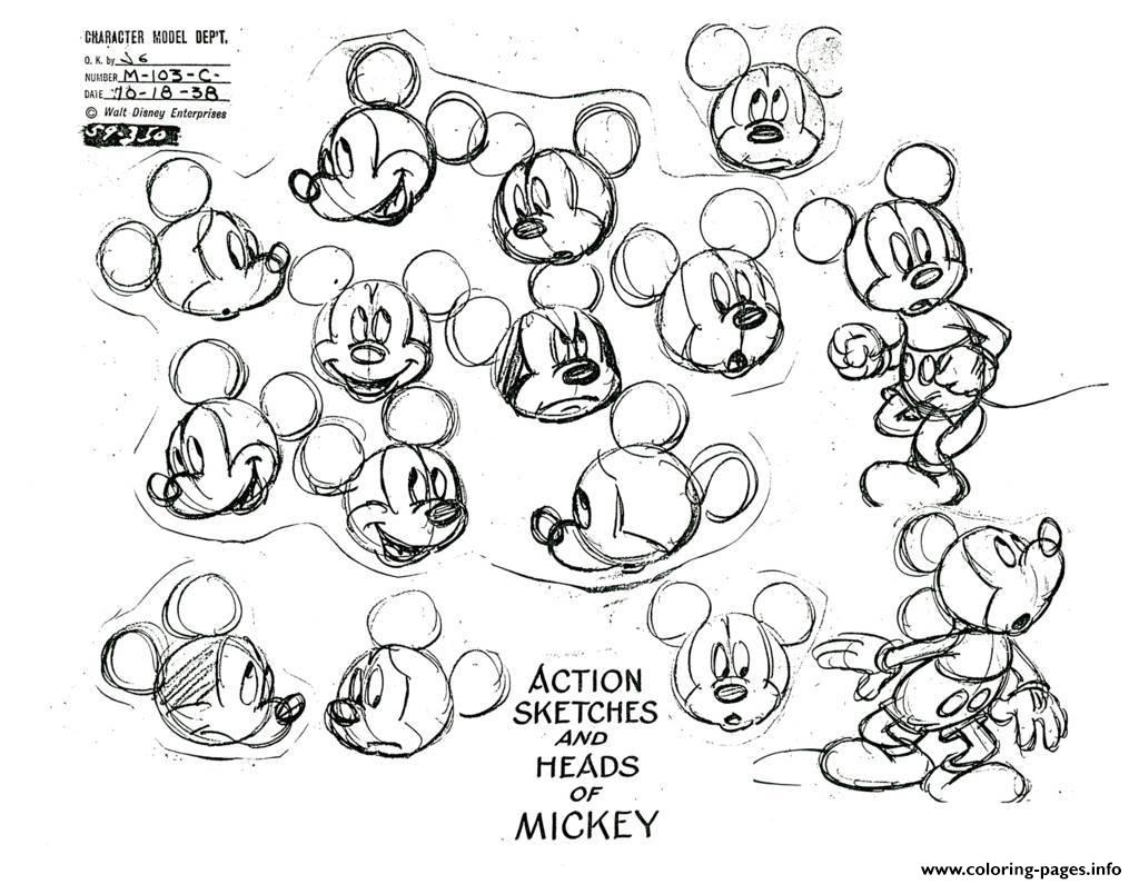 Adult Mickey Mouse Coloring Pages Print Download