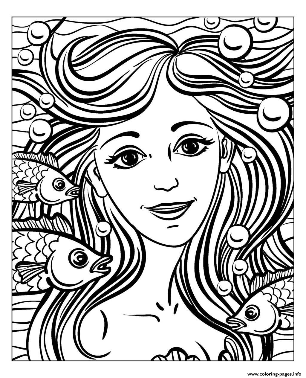 Adult Mermaid By Natuskadpi coloring pages