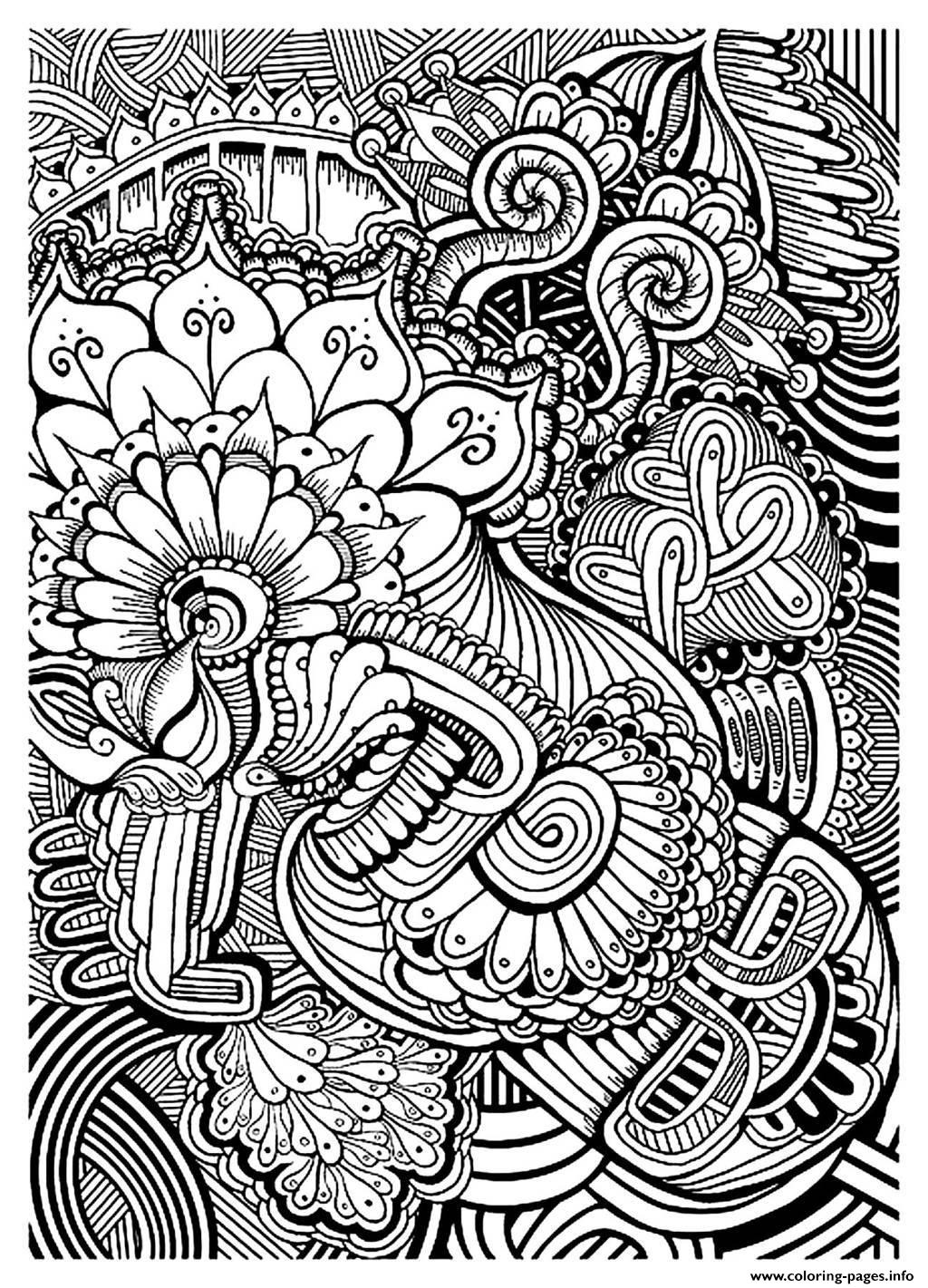 Adult Zen Anti Stress Relax To Print Coloring Pages Download
