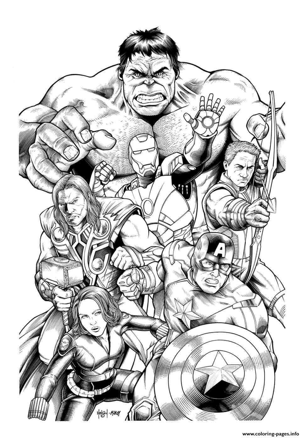 adult avengers hulk coloring pages - Avengers Coloring Pages Printable