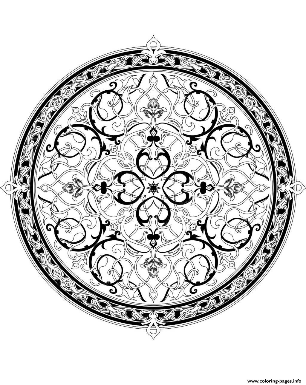 Adult Oriental Mandala 1 Coloring Pages Printable