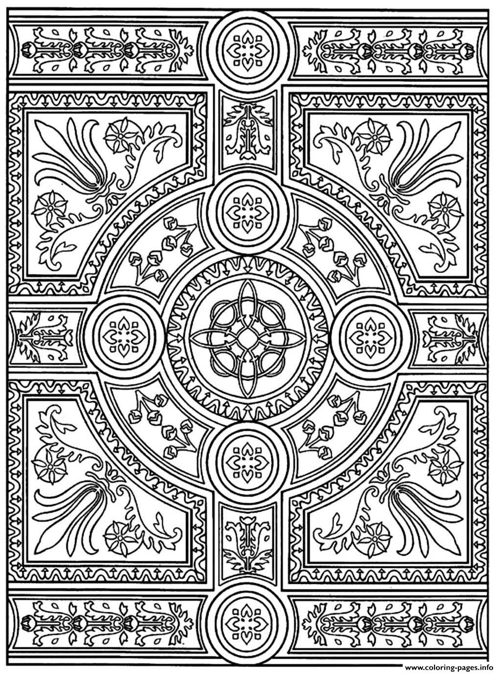 Adult Zen Anti Stress To Print Parquet Patterns Coloring