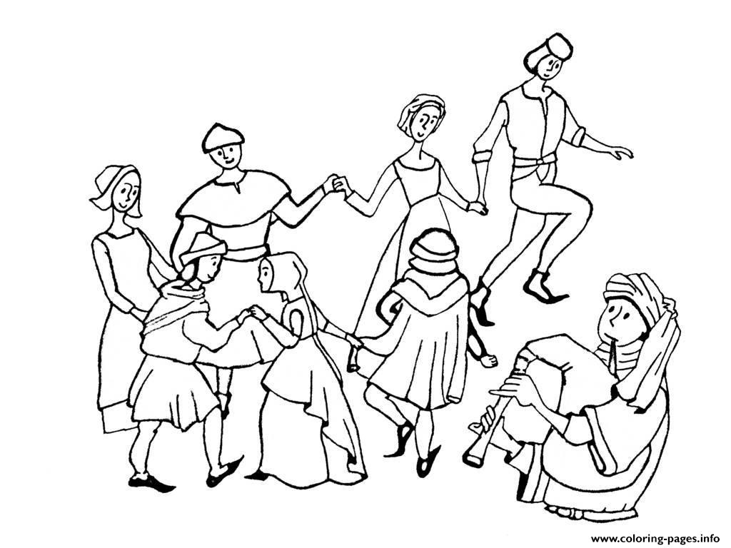 Adult Middle Age Danse coloring pages