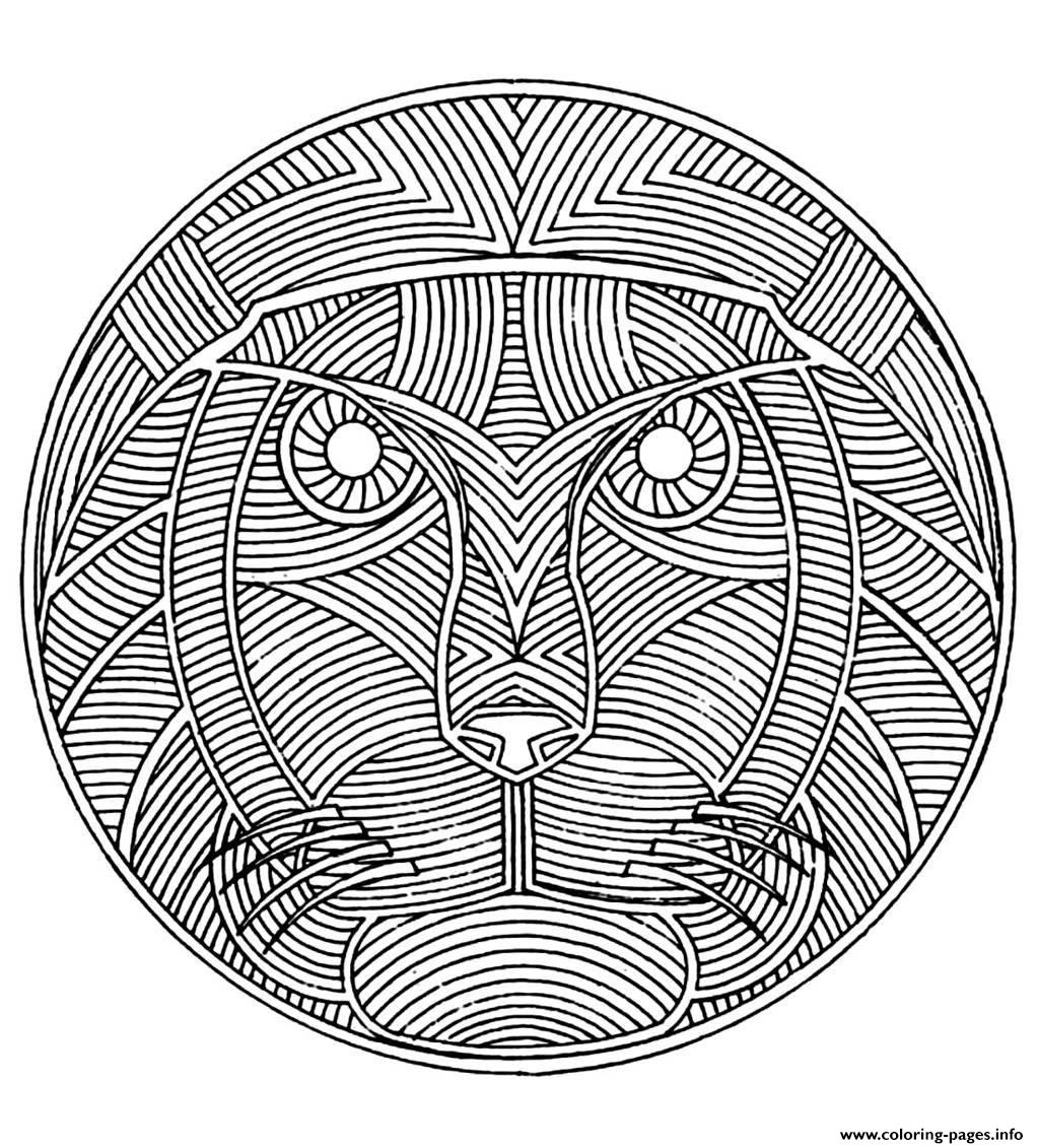 Adult Africa Mandala Coloring Pages