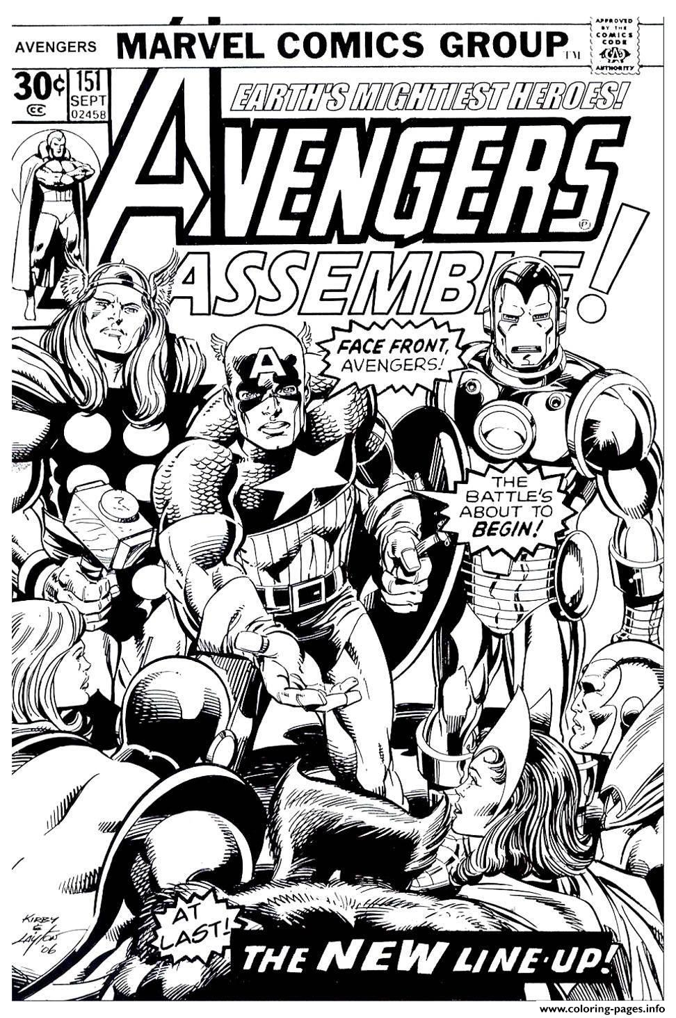 avengers couverture coloring pages printable