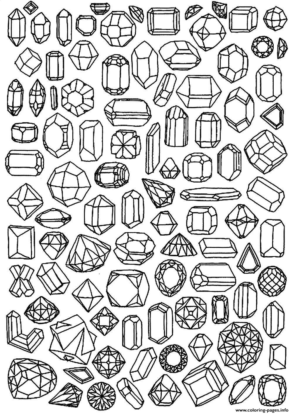 zen anti stress to print diamonds coloring pages printable