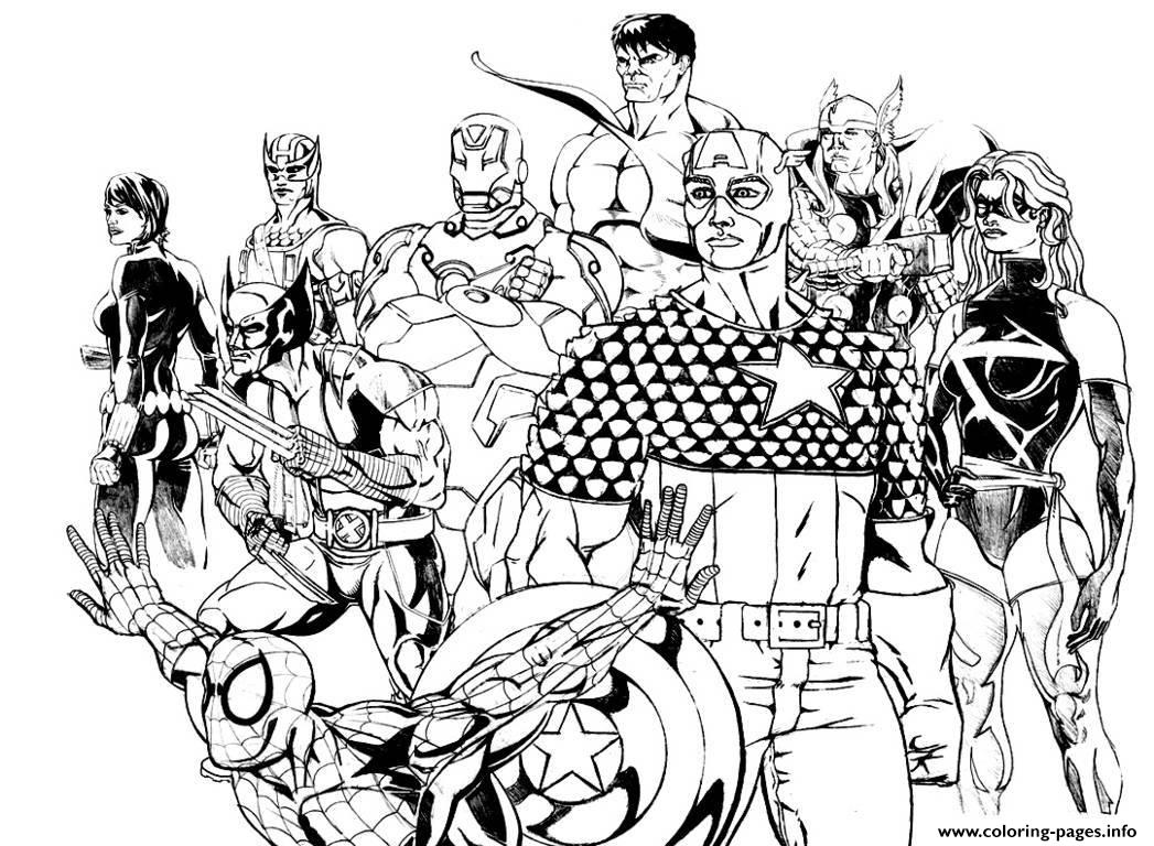 Adult Avengers Coloring Pages Print Download