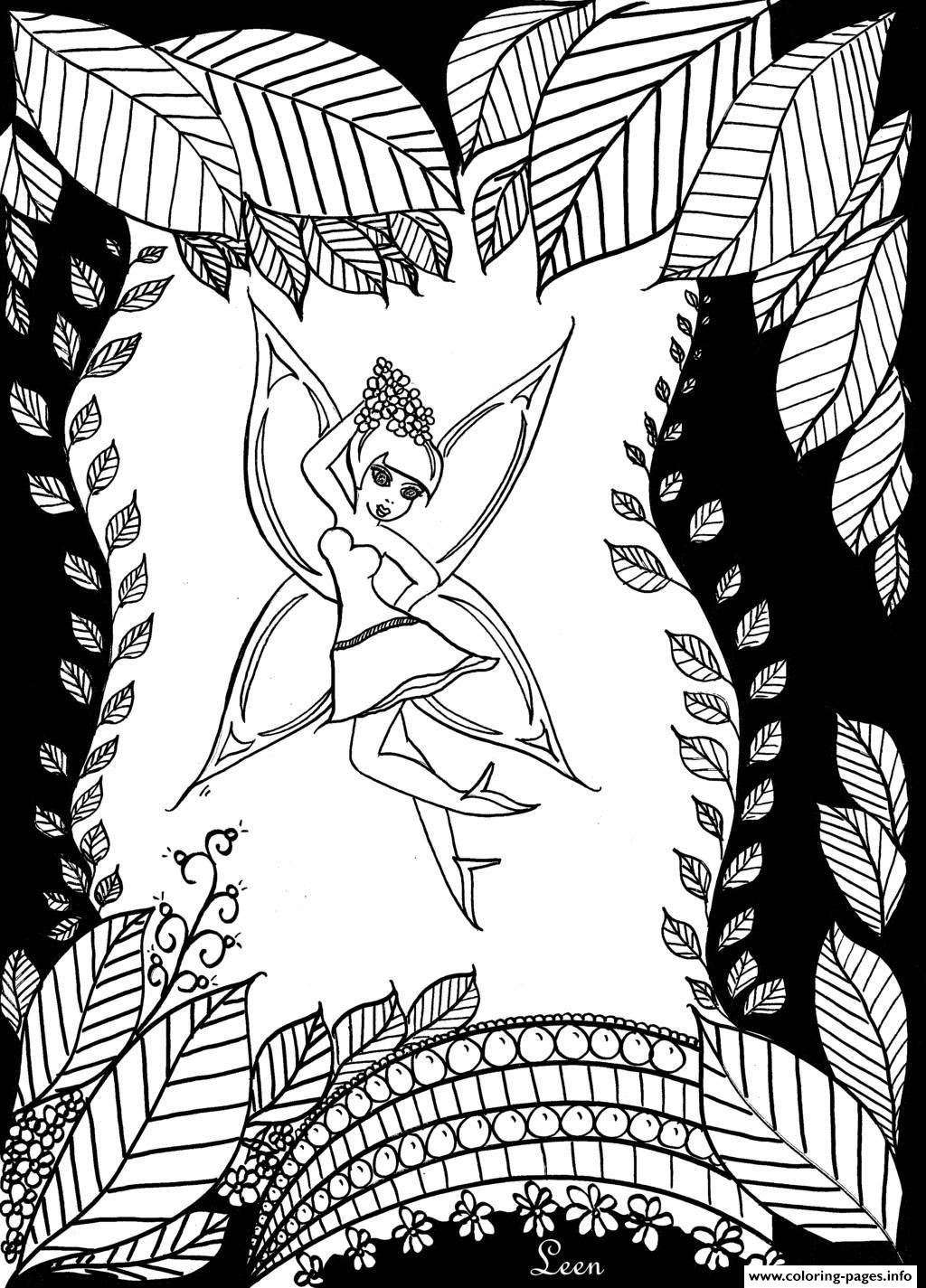 leen margot the forest fairy coloring pages printable