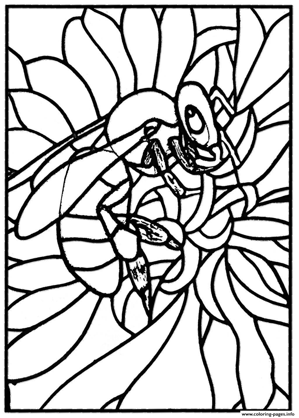 Adult Stained Glass Bee Workshop Jb Tosi 2010 Coloring Pages Printable