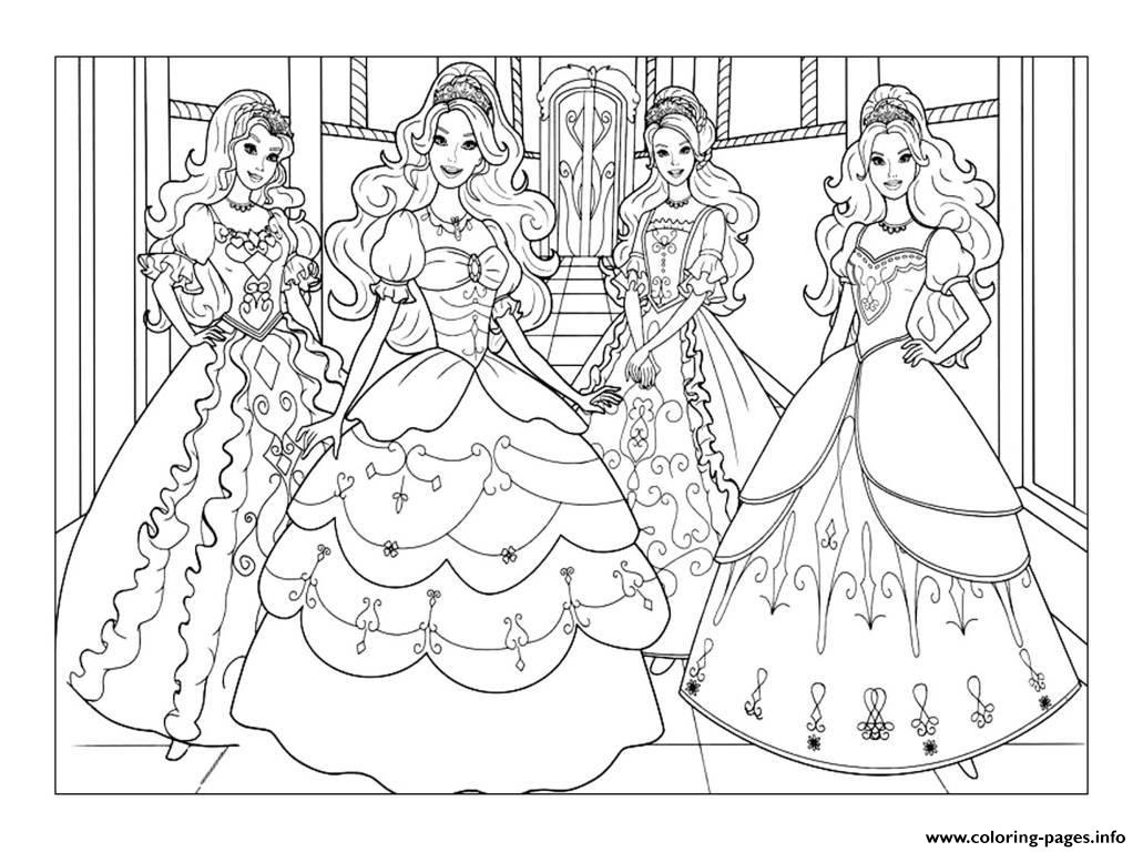 Adult Barbie Coloring Pages Print Download
