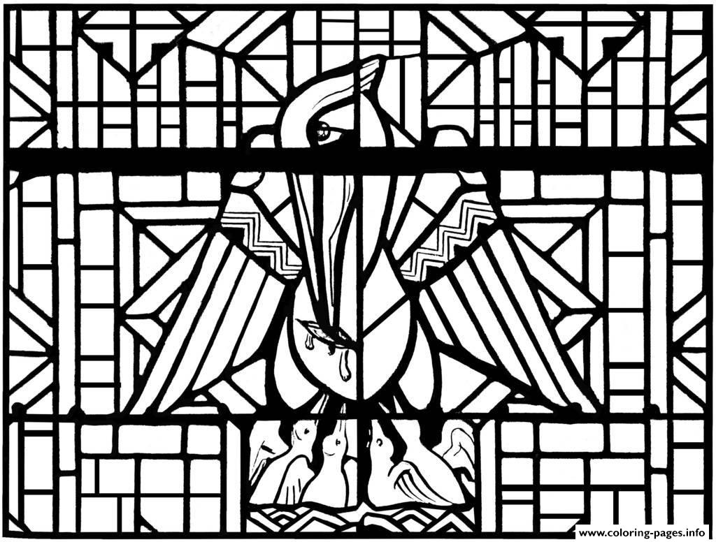 complex stained glass coloring pages - photo#4