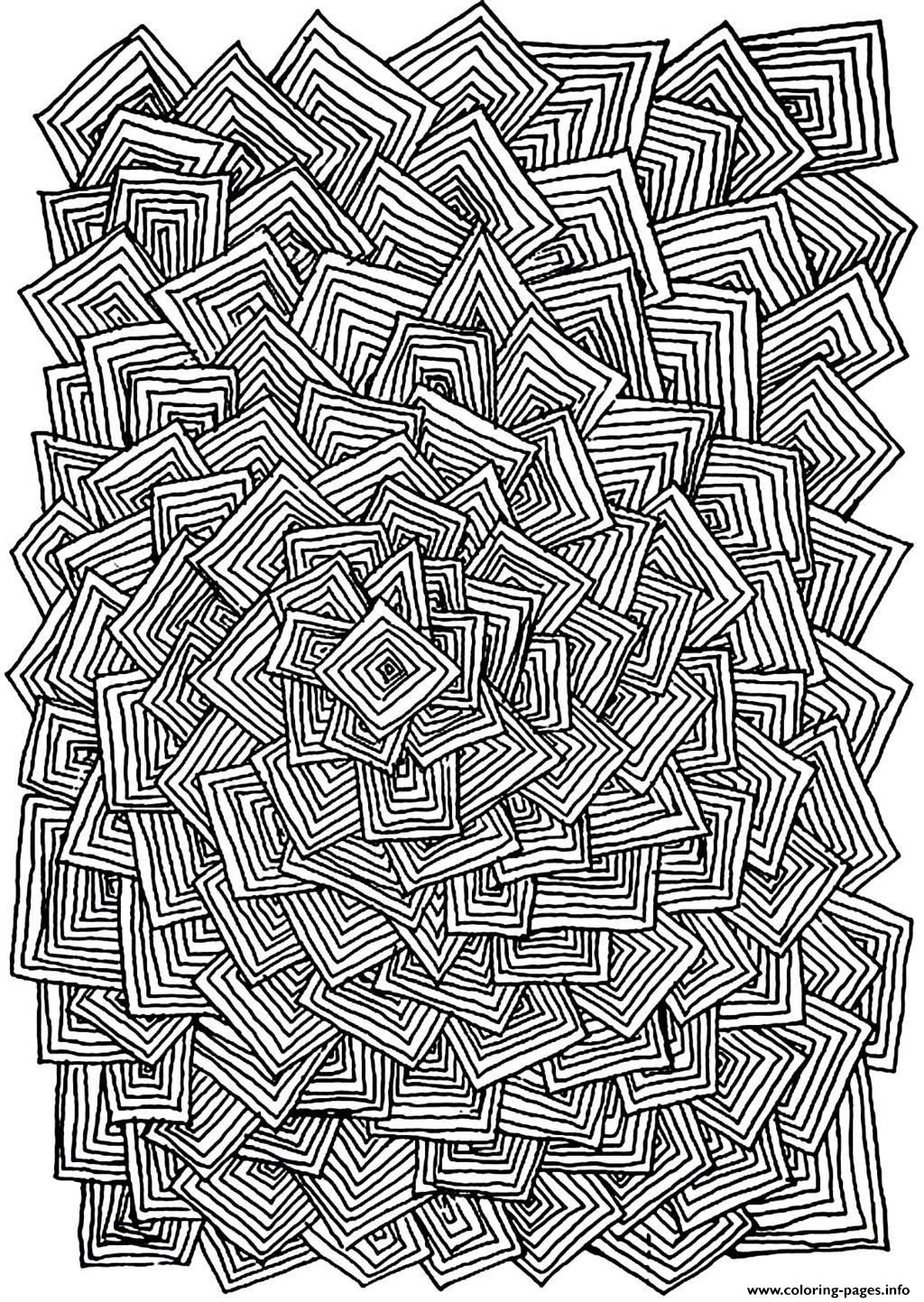 adult relax squares coloring pages - Printable Relaxing Coloring Pages