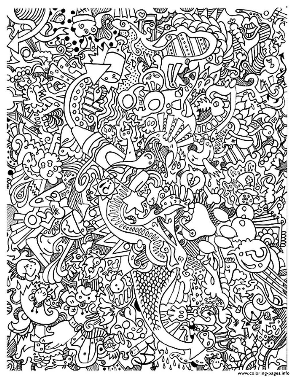 Adult Big Mess coloring pages
