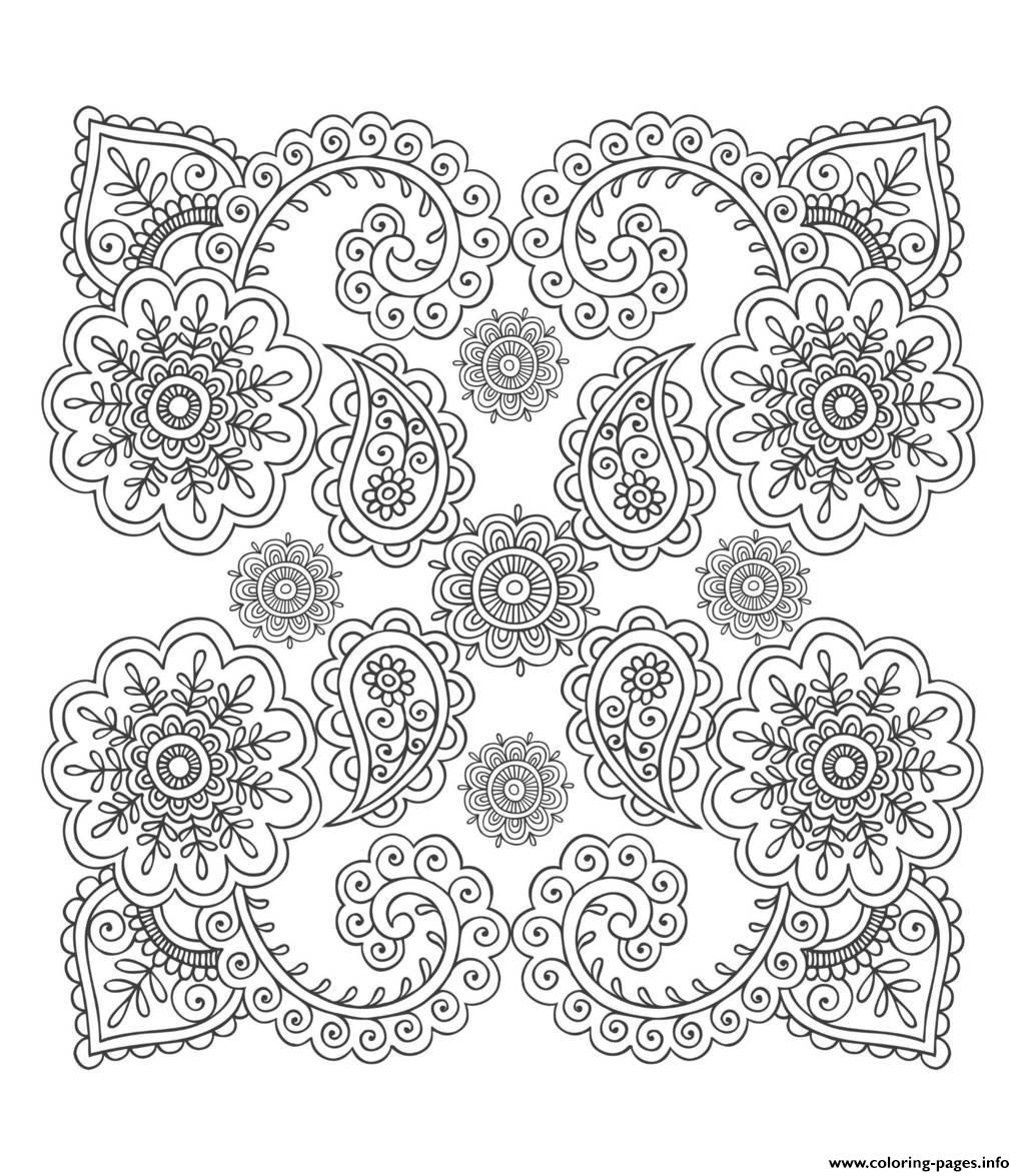 anti stress flower coloring pages printable