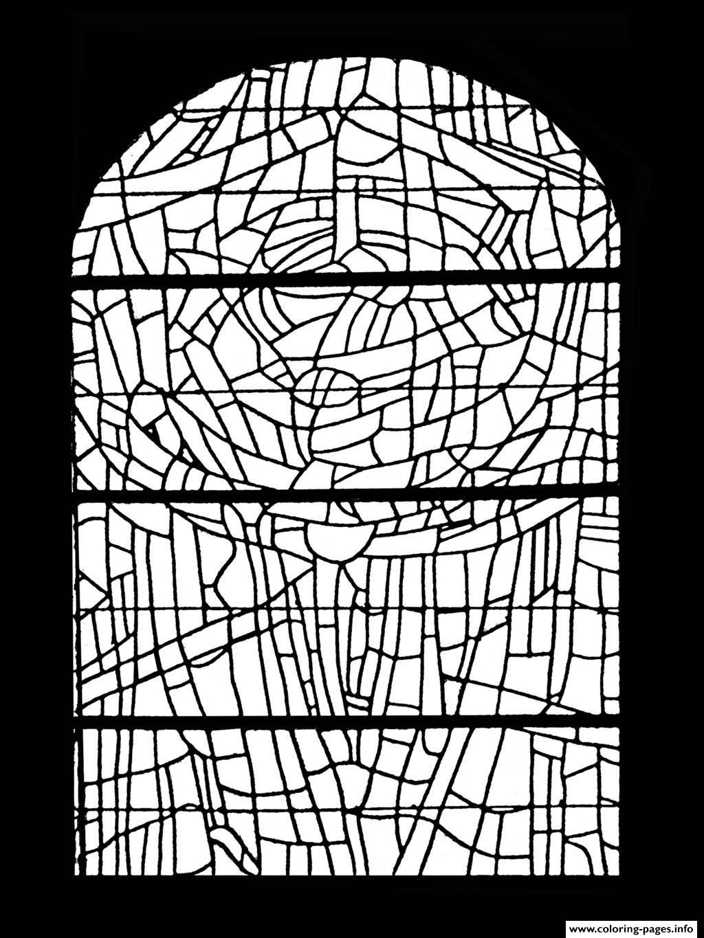 Adult Stained Glass Choeur Eglise Paroissale Saint Servant Sur Oust France coloring pages
