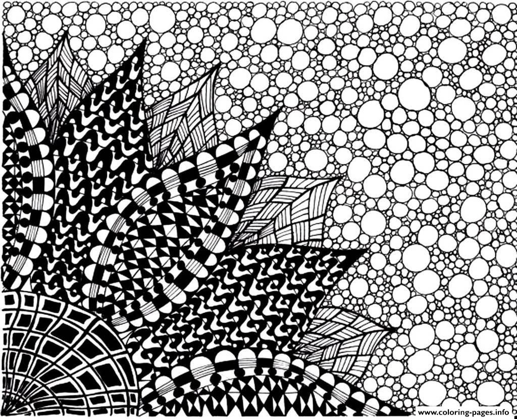 Adult Zen Anti Stress To Print Big Flower Coloring Pages ...