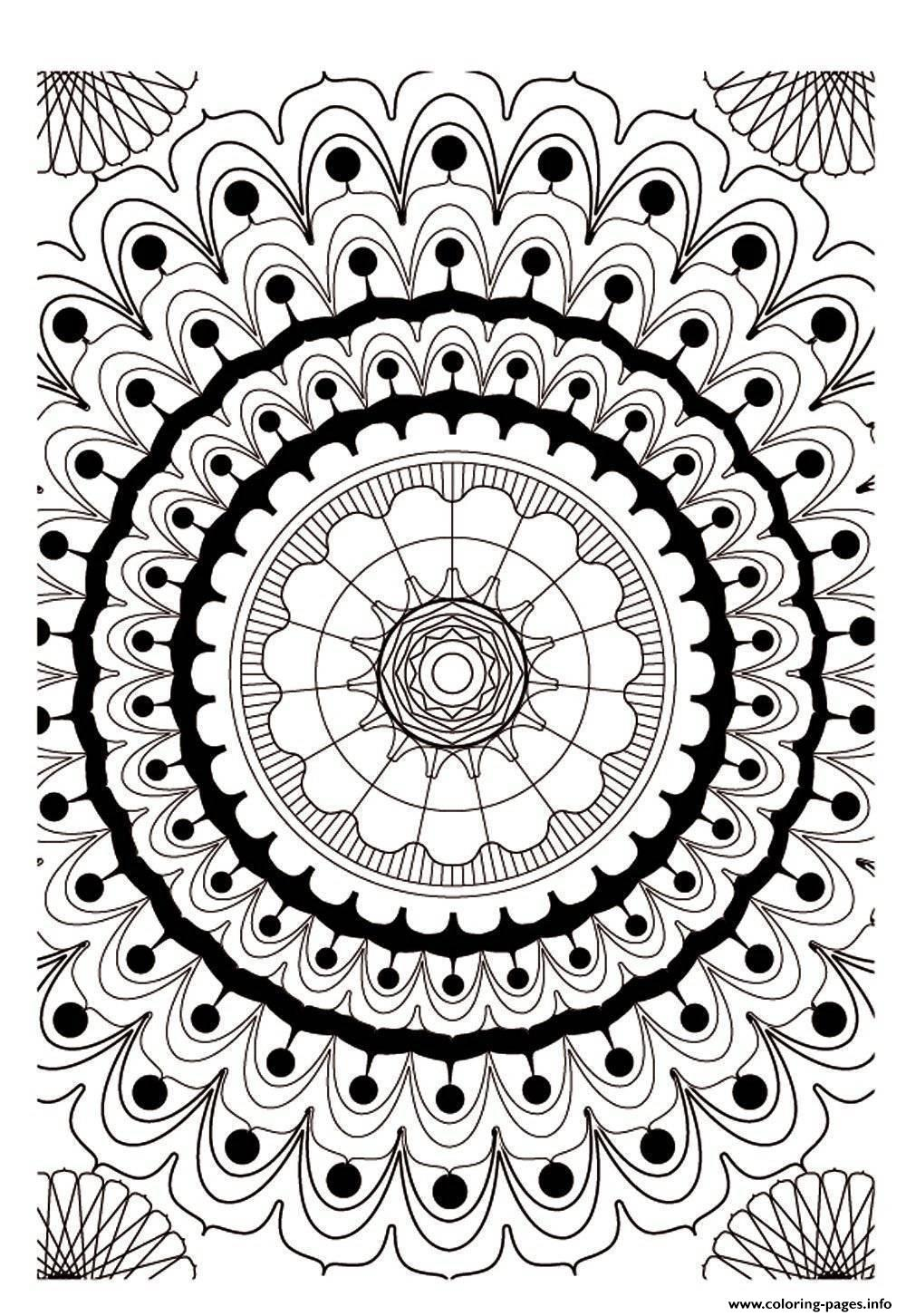 Mandala Adult 2 coloring pages