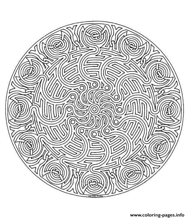 Mandala Adult 5 coloring pages