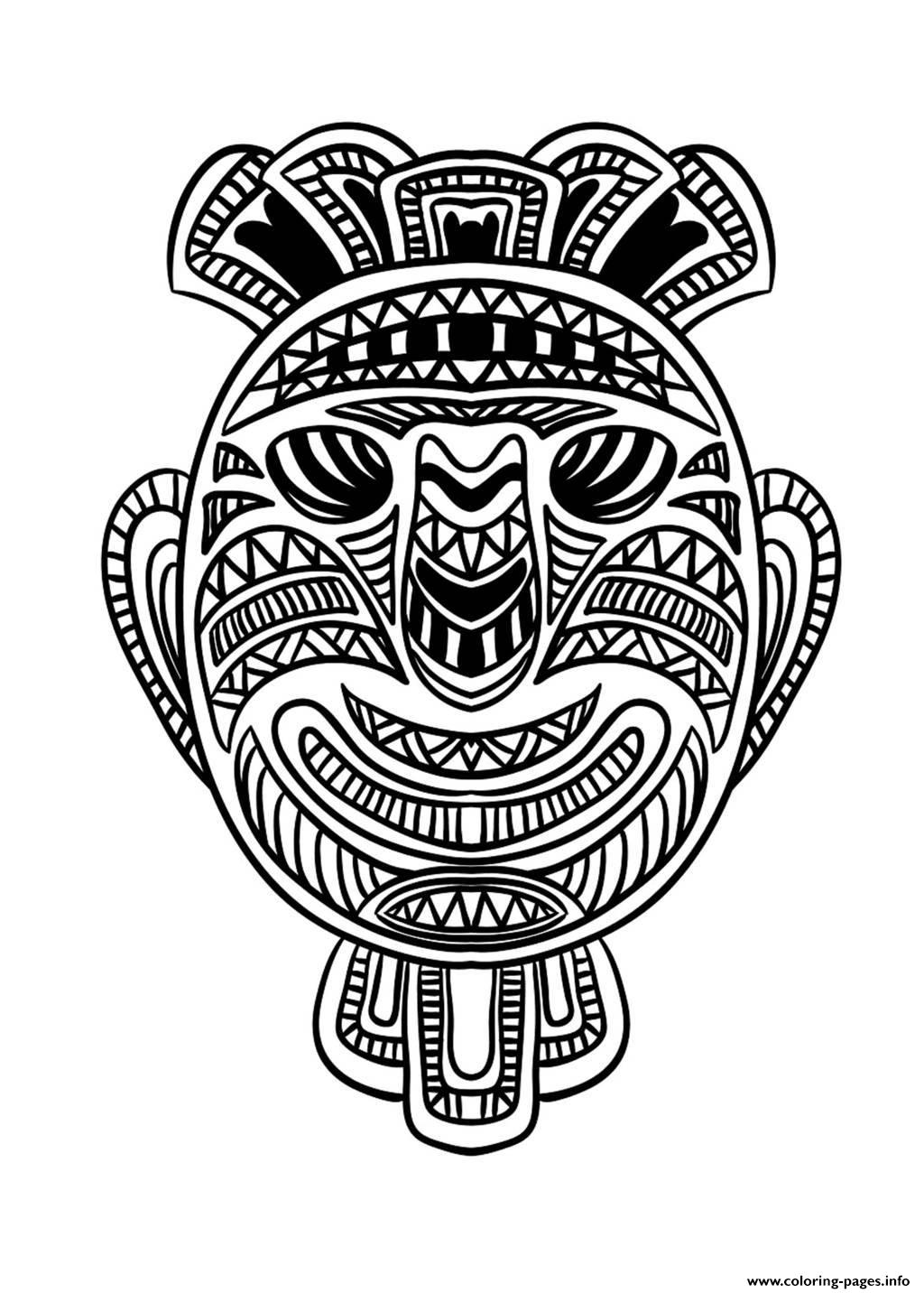 Adult African Mask 1 Coloring Pages