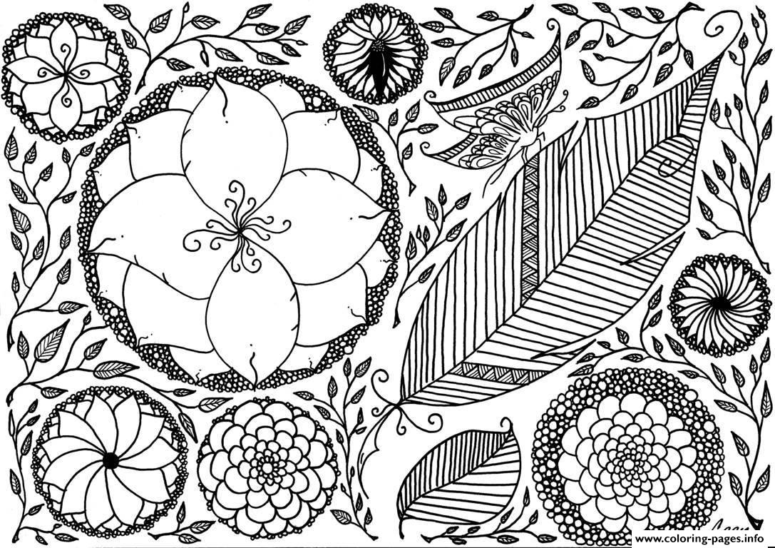 Adult Leen Margot Spring Coloring Pages Print Download