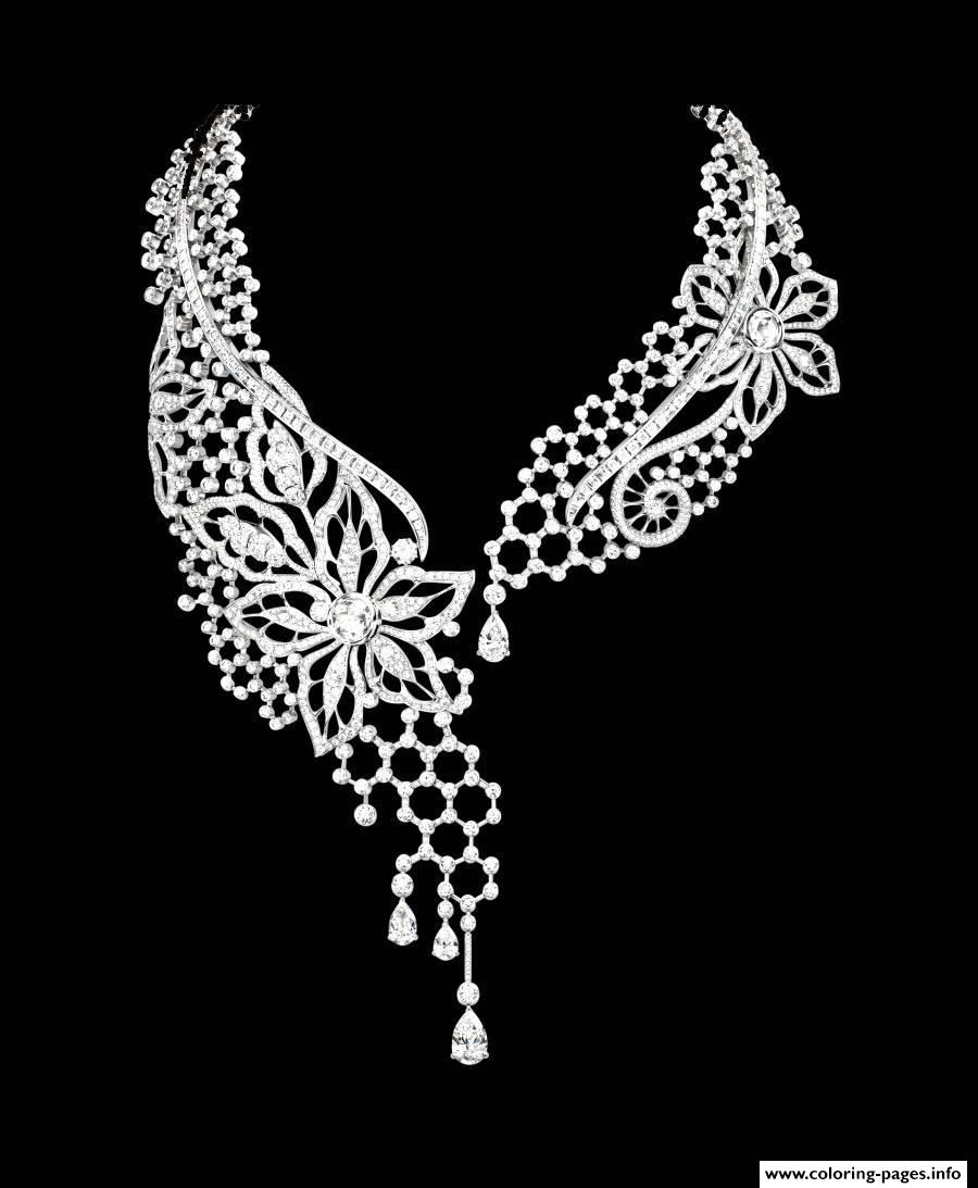 Adult Collier Diamants 1 coloring pages