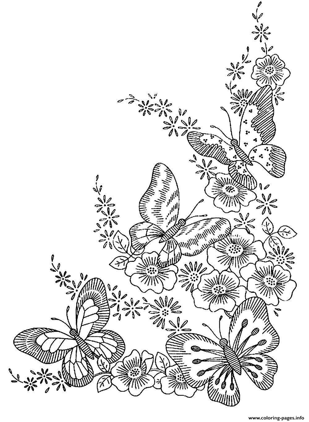 Adult Difficult Butterflies coloring pages