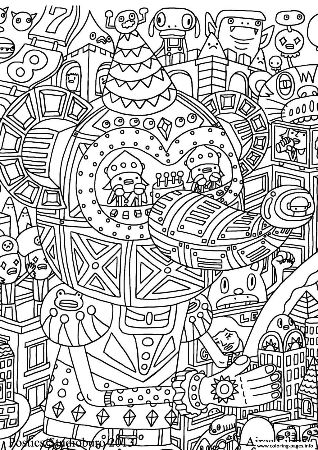 For Adults 6 coloring pages