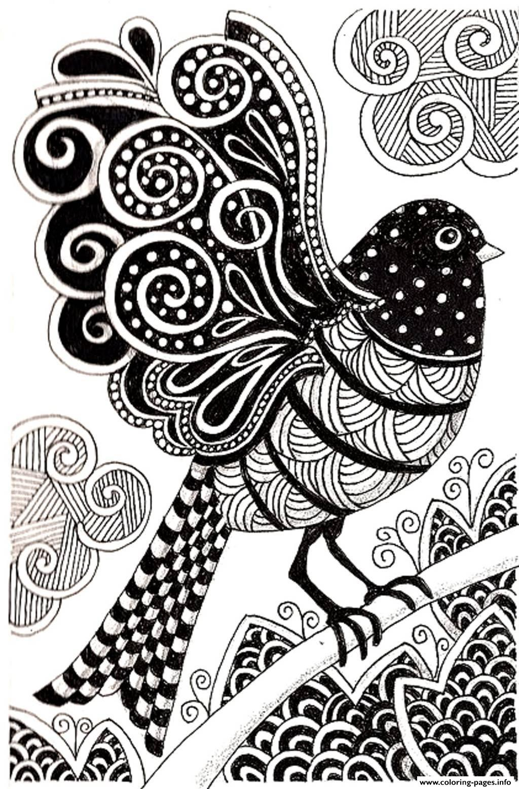 Adult Dark Bird Coloring Pages Printable