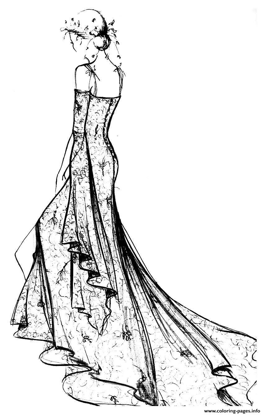 Adult Robe Dentelle Chantilly coloring pages