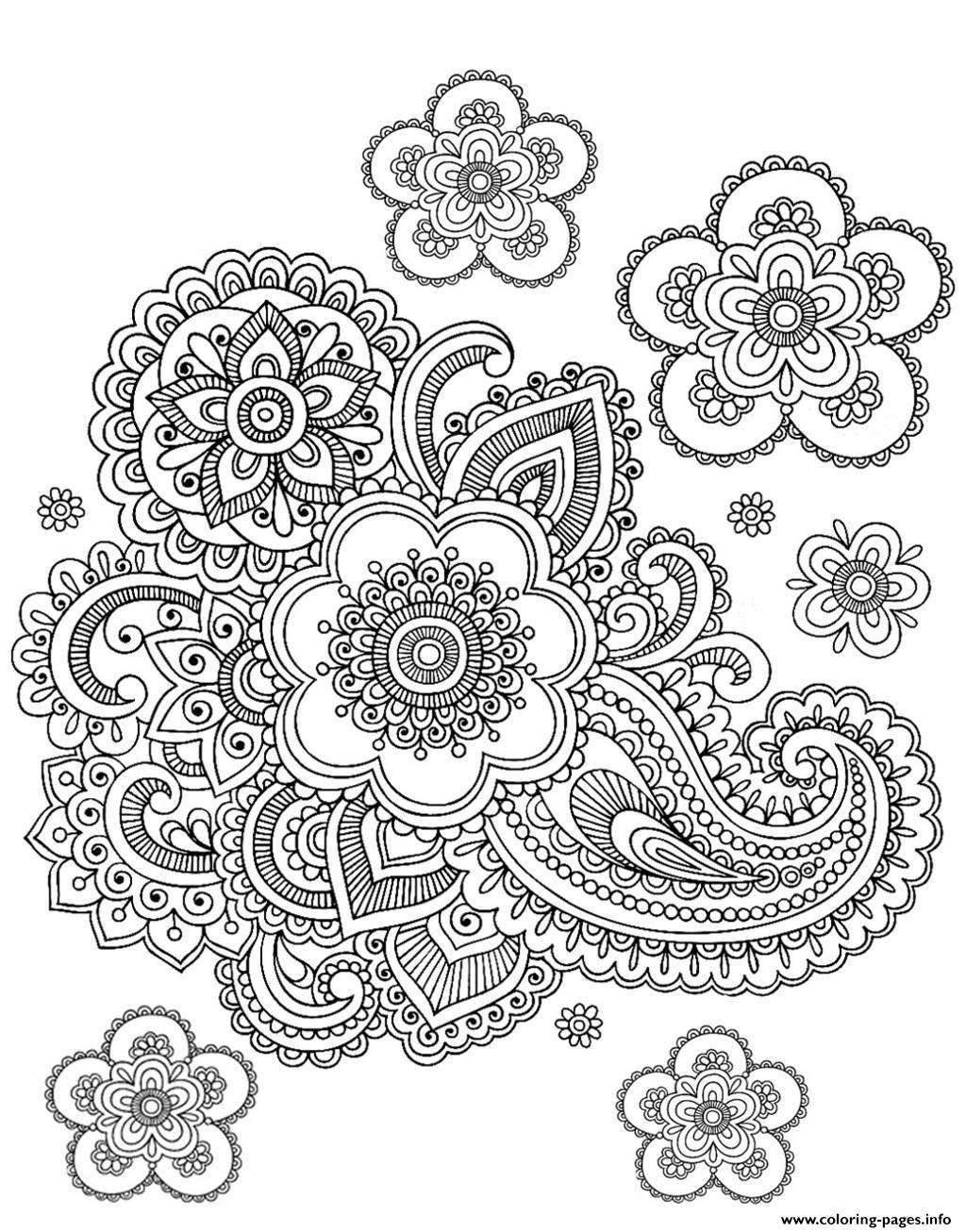 Adult Paisley Difficult Coloring Pages Printable