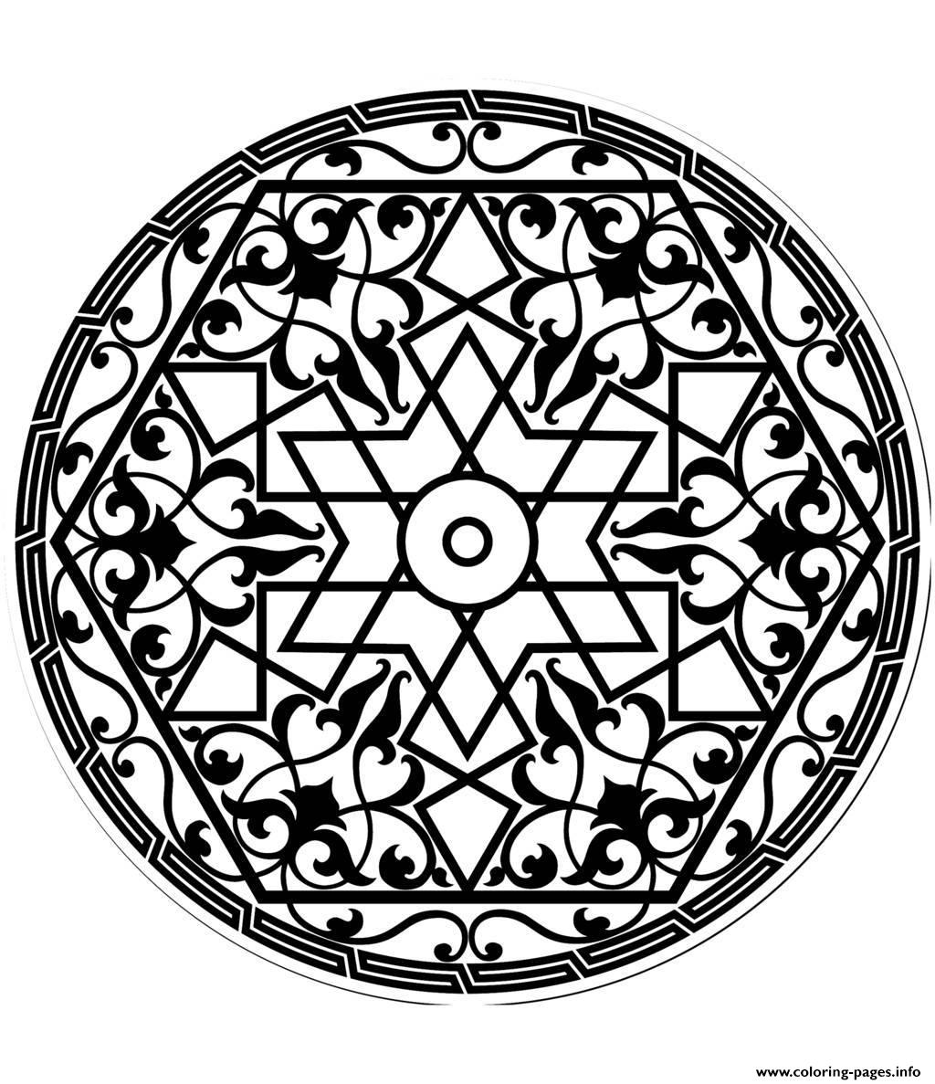 Adult Pattern Arabe coloring pages