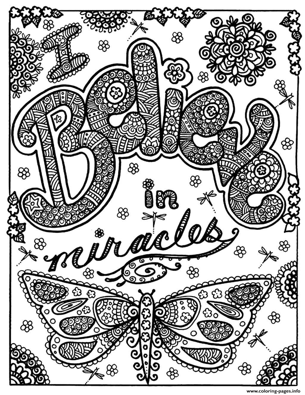 Adult Butterfly Miracle coloring pages