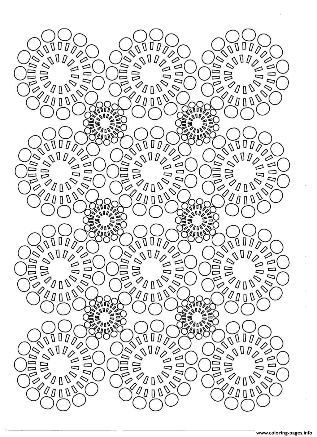 circles flowers coloring pages printable