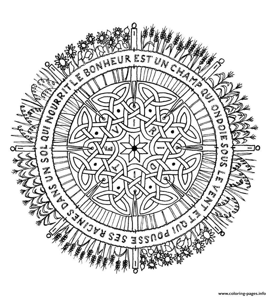 Mandala Adult 4 coloring pages