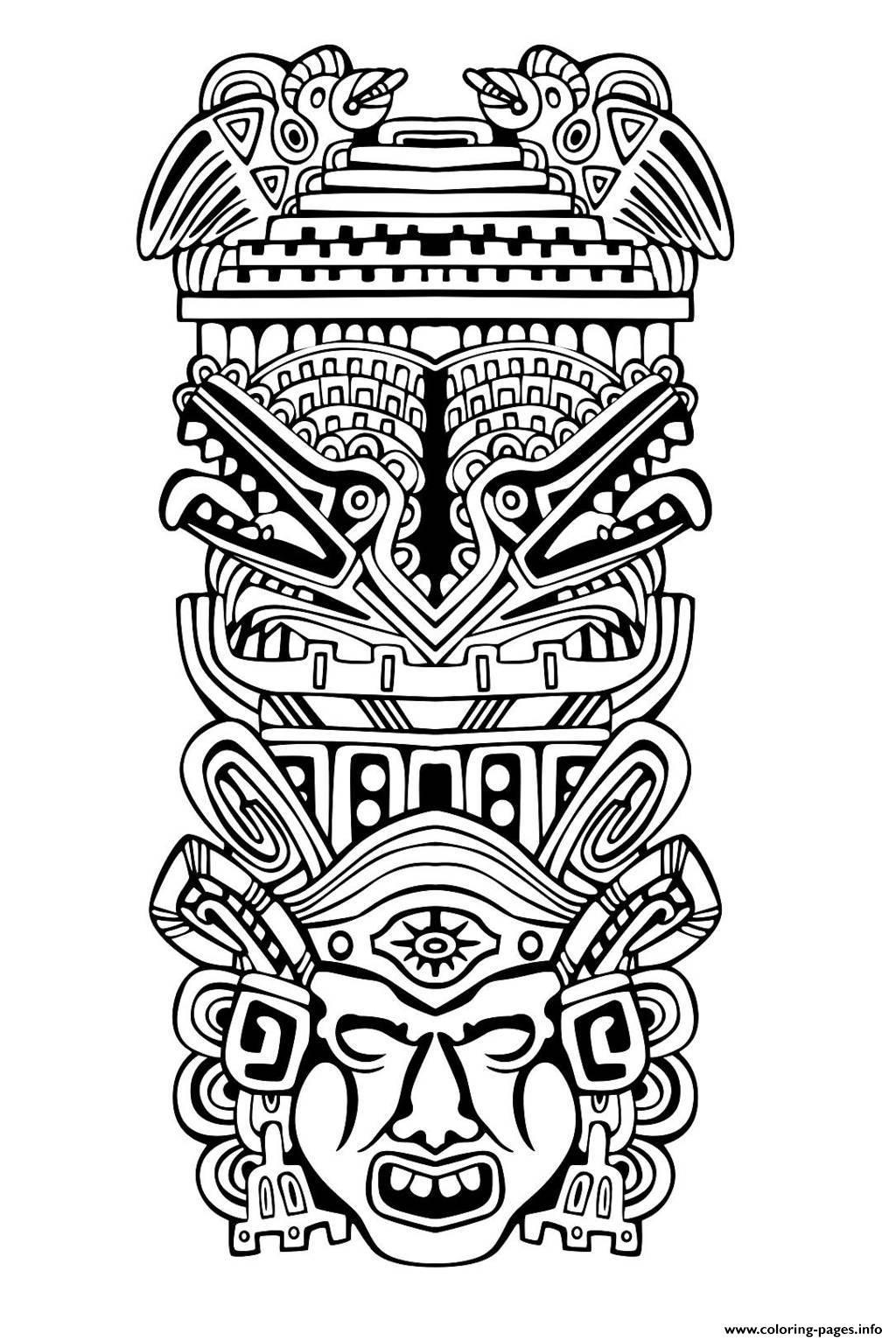 Adult Totem Inspiration Inca Mayan