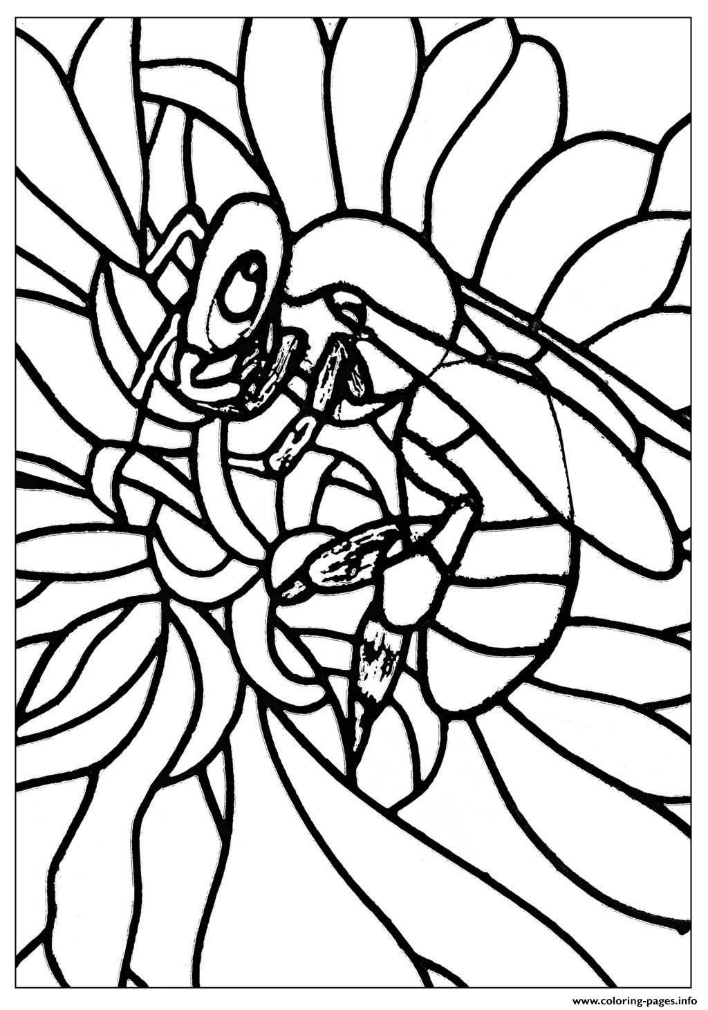 Adult Bee Coloring Pages Printable