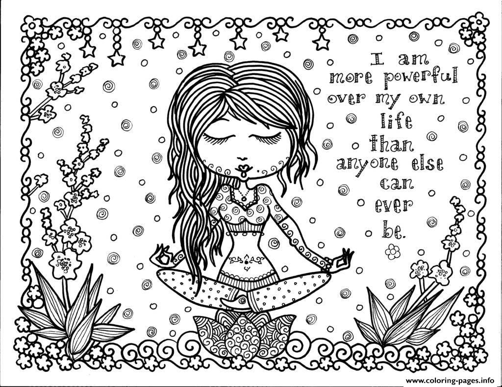 positive thought coloring pages printable