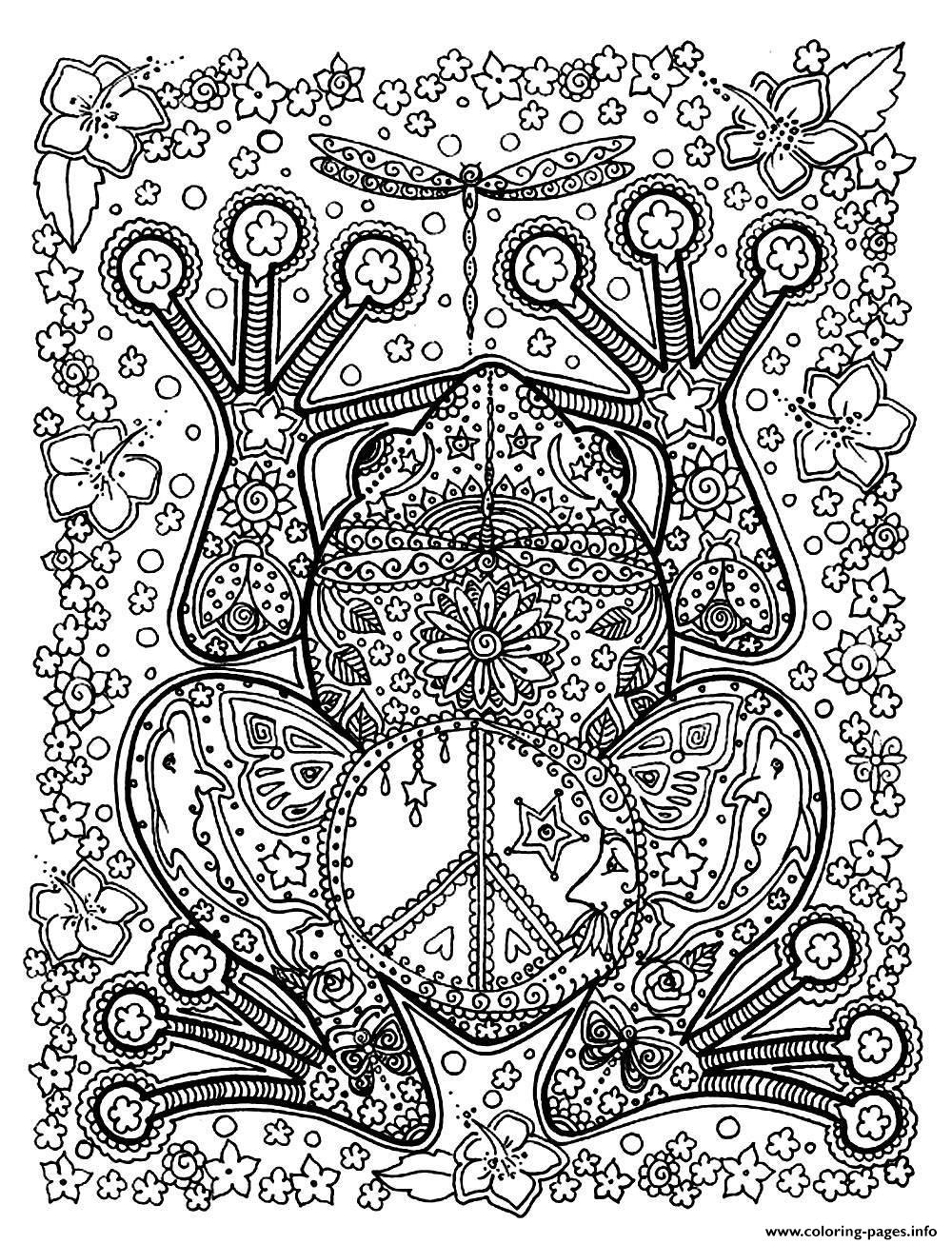 adult animals big frog Coloring pages Printable
