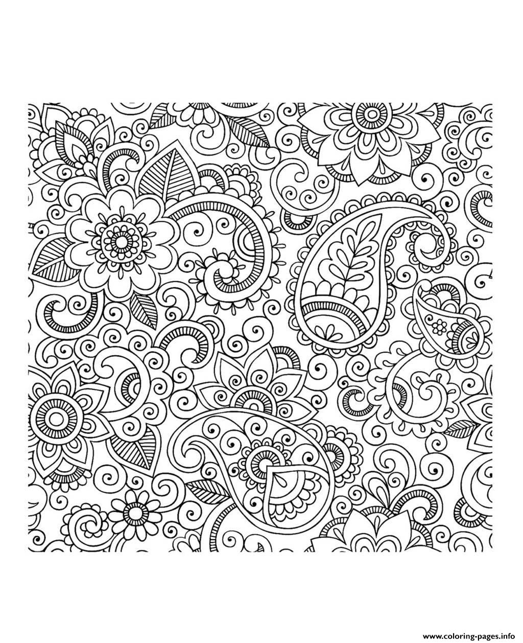 paisley coloring pages - adult paisley iran coloring pages printable
