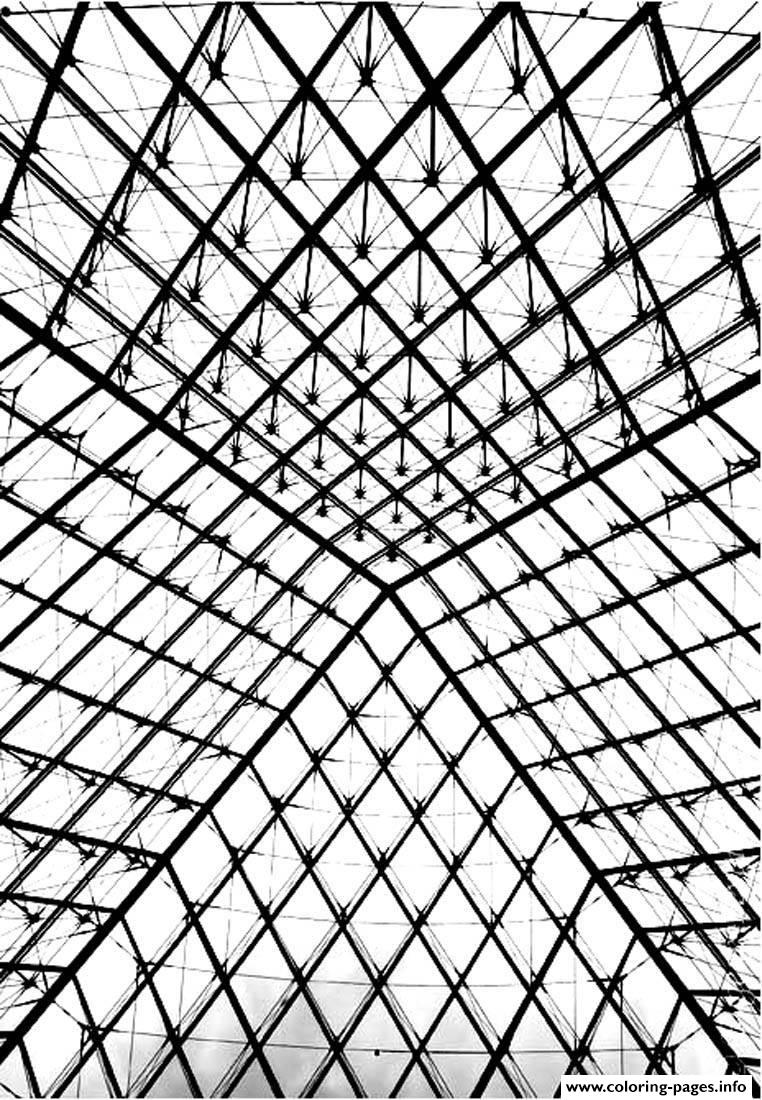 Adult Pyramide Louvre coloring pages