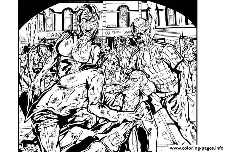 adult zombies coloring pages printable