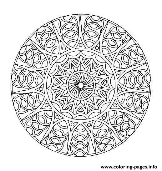 Free Mandala Difficult Adult To