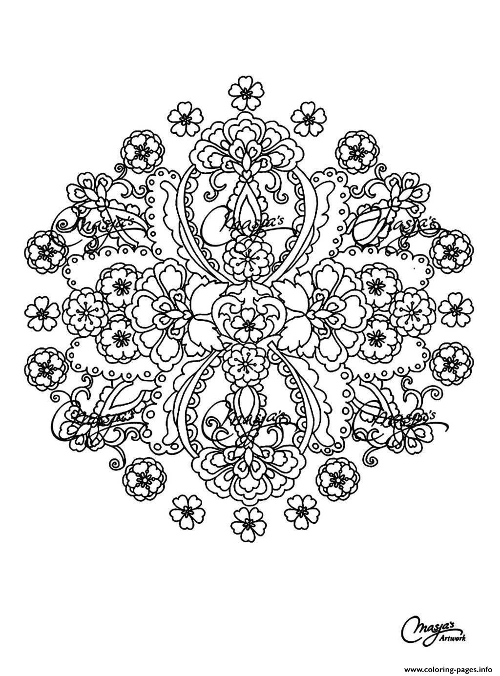 Free Mandala Difficult Adult To Print 15 coloring pages