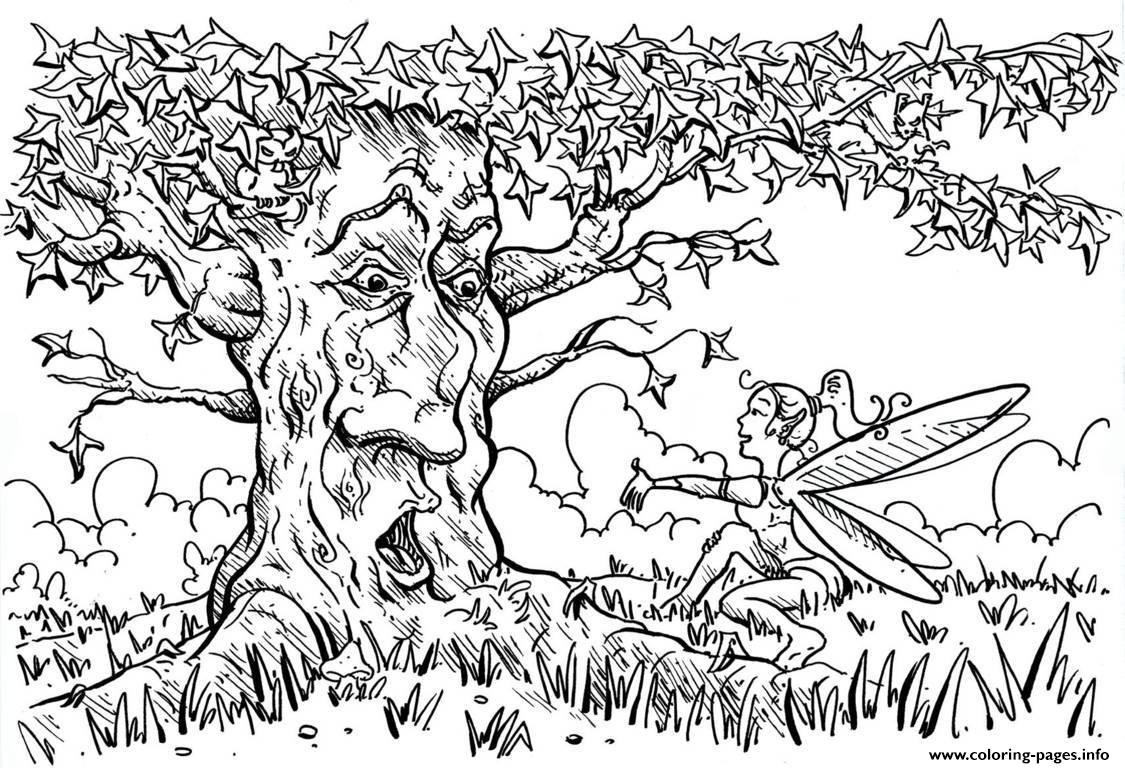 For Adults Arbre coloring pages
