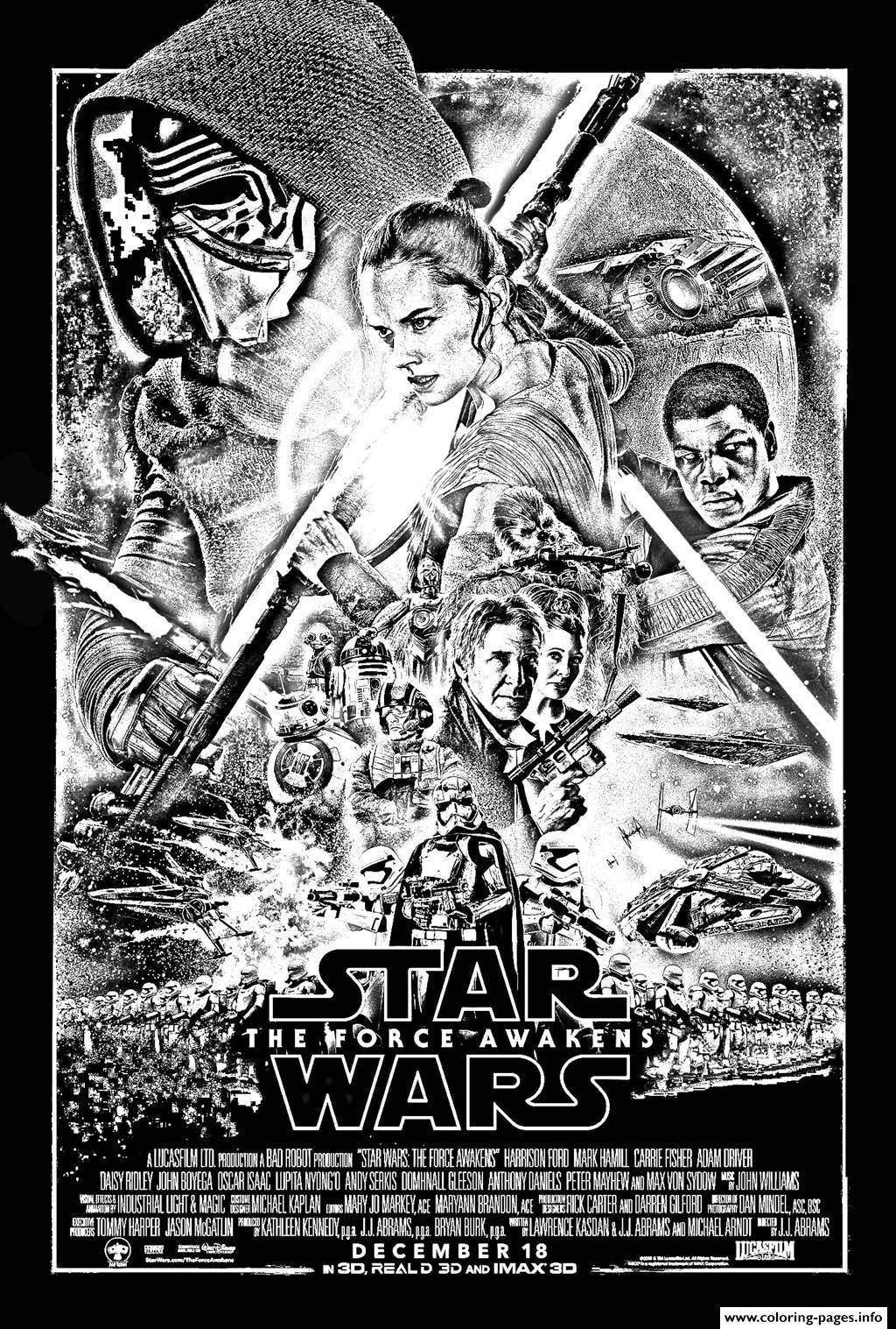 Adult Star Wars The Force Awekens coloring pages