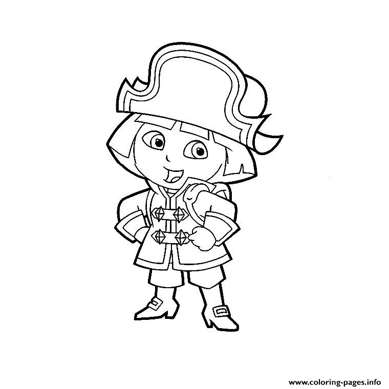 Dora Pirate coloring pages