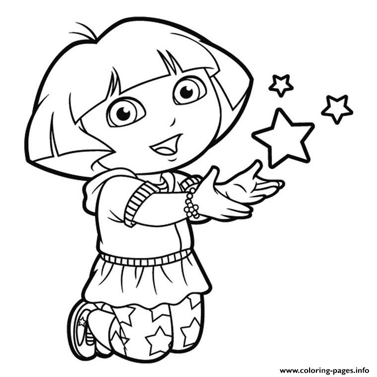 DORA THE EXPLORER COLORING Pages Free Download Printable